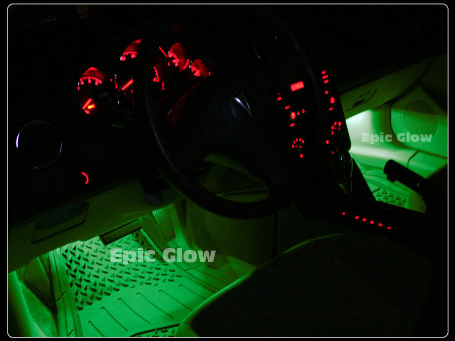 Green Led Lights 5 Pack Interior Glow Lighting Car Truck Suv Ebay