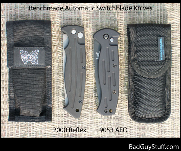 Benchmade 2000 Automatic versus 9053 with Sheaths
