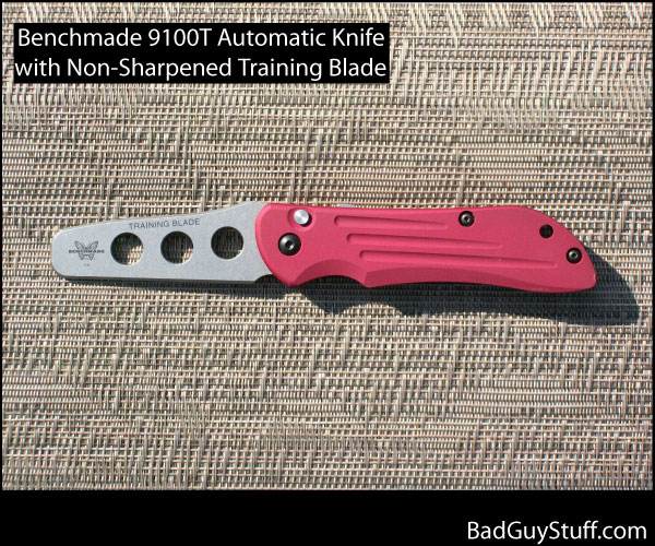 Benchmade 9100T Automatic Trainer Red Handle